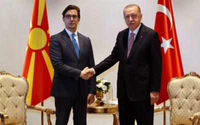 Средба на претседателот Пендаровски со турскиот претседател Ердоган во Анталија