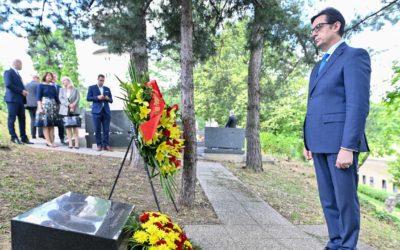 Presidenti Pendarovski bëri homazh pranë varrit të Panko Brashnarov në Zagreb