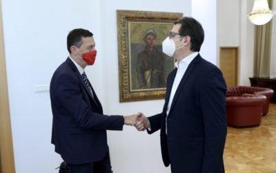 Farewell meeting of President Pendarovski with Israeli Ambassador Dan Oryan