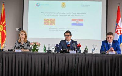 Претседателот Пендаровски се обрати на Македонско-Хрватскиот економски форумво Загреб