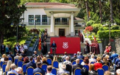 President Pendarovski awards Goran Stefanovski, Zafir Hadzimanov, Ramzi Nesimi and Zivko Mukaetov with the Order of Merit for the Republic of North Macedonia