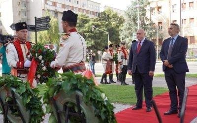 Делегации од Кабинетот на Претседателот присуствуваа на свеченото одбележување на 2 Август, Илинден – Денот на Републиката во Скопје, Пелинце и Смилево