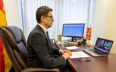 Претседателот Пендаровски учествуваше на виртуелниот Глобален самит за борба против Ковид-19: Крај на пандемијата и поставување на подобри основи како подготовка за следната