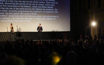 """Обраќање на претседателот Пендаровски на 42. издание на фестивалот """"Браќа Манаки"""""""