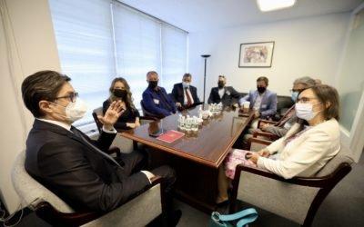 """Претседателот Пендаровски во Њујорк оствари средба со претставници на """"Македонија2025"""""""