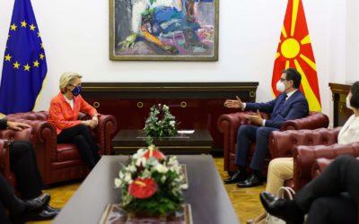 Средба на претседателот Пендаровски со претседателката на Европската Комисија, Урсула Фон дер Лејен