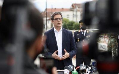 Изјава на претседателот Пендаровски по посетата на опожарената модуларна болница во Тетово