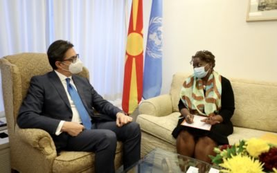 Средба на претседателот Пендаровски со Наталиа Канем, извршен директор на Фондот за население на Обединетите нации (УНФПА)