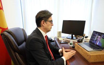 Intervista e Presidentit Pendarovski për Zërin e Amerikës në gjuhën maqedonase