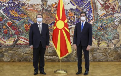 Претседателот Пендаровски ги прими акредитивните писма на новоименуваните амбасадори на Кралството Шпанија и на Република Кореја