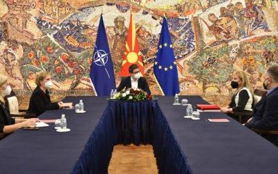 Претседателот Пендаровски прими претставници на Македонското лекарско друштво (МЛД)