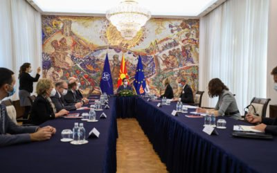 President Pendarovski meets OSCE Secretary General, Helga Maria Schmid
