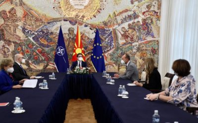 Претседателот Пендаровски ја прими генералната секретарка на Унијата на франкофонските новинари Зара Назариан