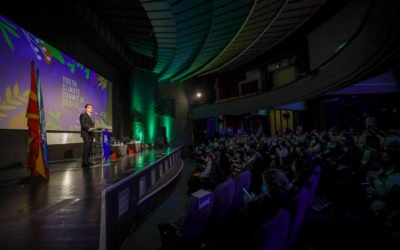 President Pendarovski addresses the Youth Climate Change Summit in Skopje